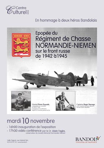 Bandol, 10 et 11 novembre 2009 Affiche_Expo_Normandie_Niemen