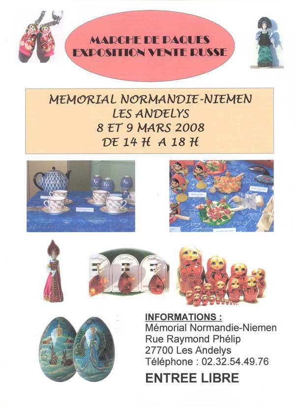 MARCHE DE PAQUES RUSSE au Mémorial Affiche4