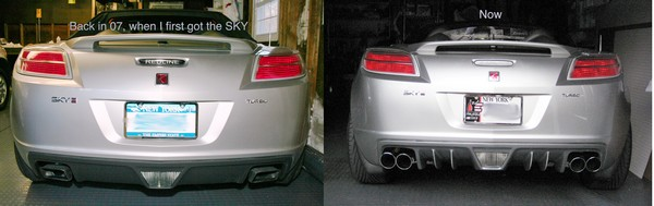 """rear diffuser for Opel GT / Saturn SKY """"made in Germany""""   Summer Sale Sky01"""