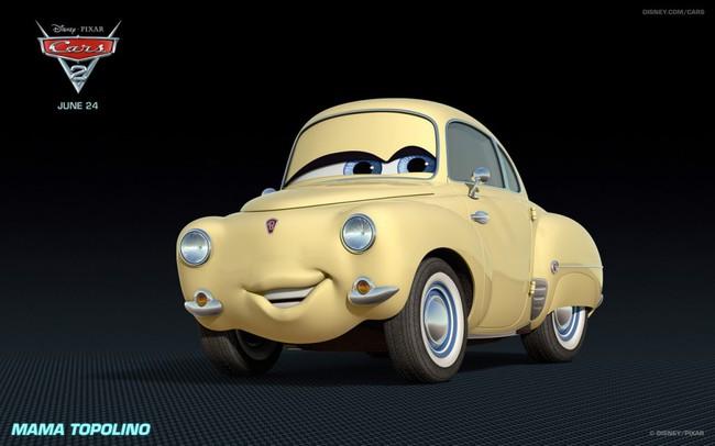 Los coches de los personajes de Cars 2 Mama-Topolino-Cars-2-Characters-1024x640-650x406