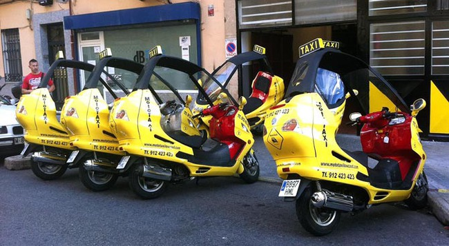 Qué esperar de los taxis en el futuro Moto_taxi_madrid-650x357