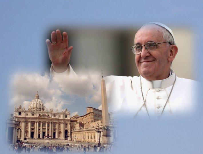 Retour Évangile de la joie/pape François/ Fond_pape_francois_1
