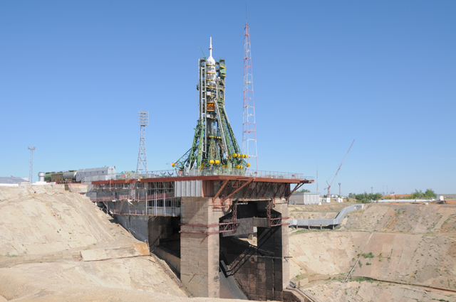 Soyuz Rocket on Launch Pad