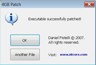 Message d'erreur  4gb_patch