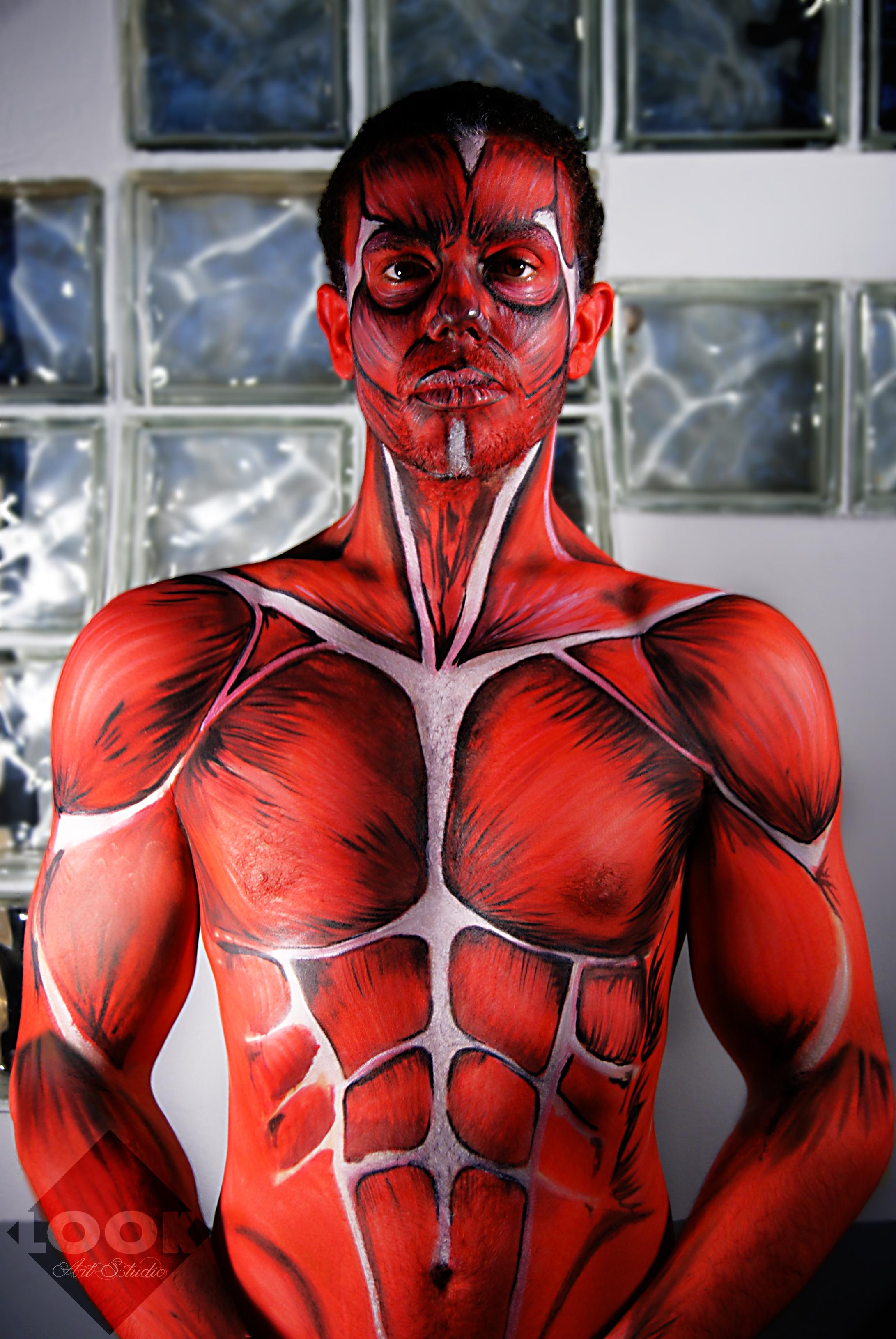 Dibujando el cuerpo BodyPaint-Musculo