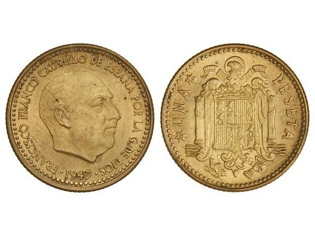Una peseta de 1947 0915g