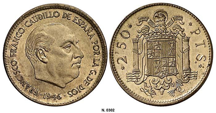 2,5 pesetas Estado Español 0302