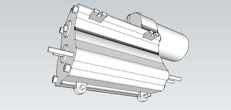 [Sketchup SKP] Boite de vitesse 3 speed Tamiya camion. Boite_Camion_Tamiya