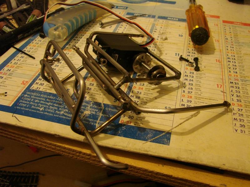 Fabrication d'un treuil puissant a partir d'un Servo 110