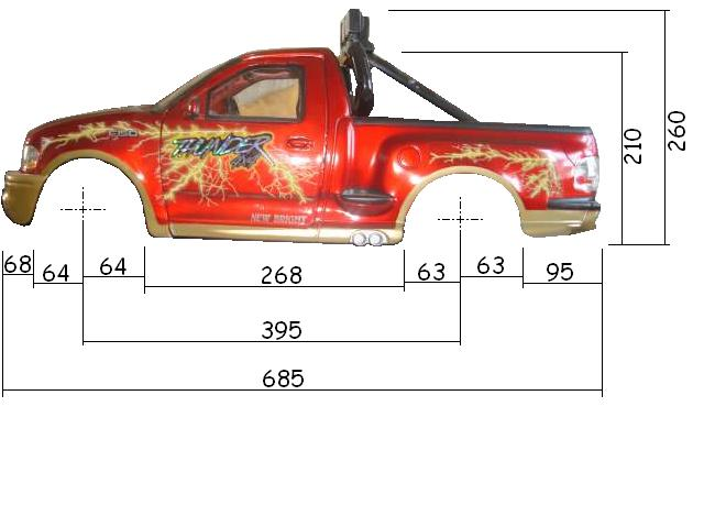 Dimensions des carrosseries 1/6 New Bright Cotes_F-150_Cote