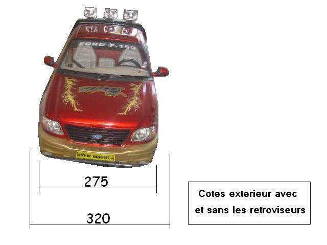 Dimensions des carrosseries 1/6 New Bright Cotes_F-150_Face
