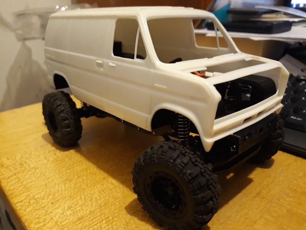 [micro ftx 1/24] Ford Econoline custom 1/25 14