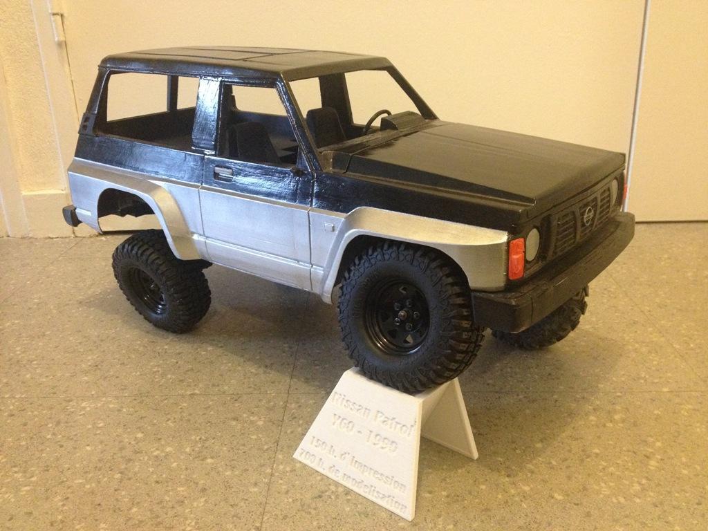 Axial SCX10 Nissan Patrol Y60 - ech:1/8 - Impression 3D Patrol-93