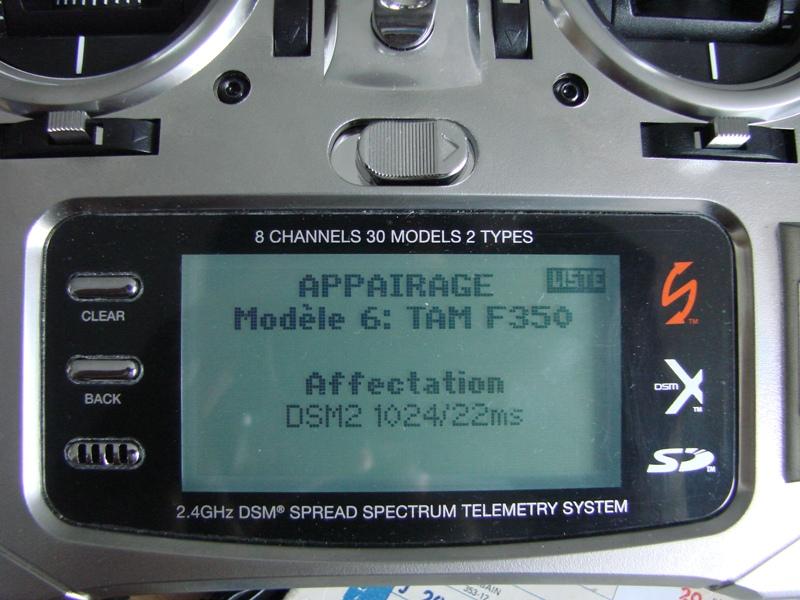[Tuto] Radio Spectrum DX8 - Quelques astuces et reglages de base.  23