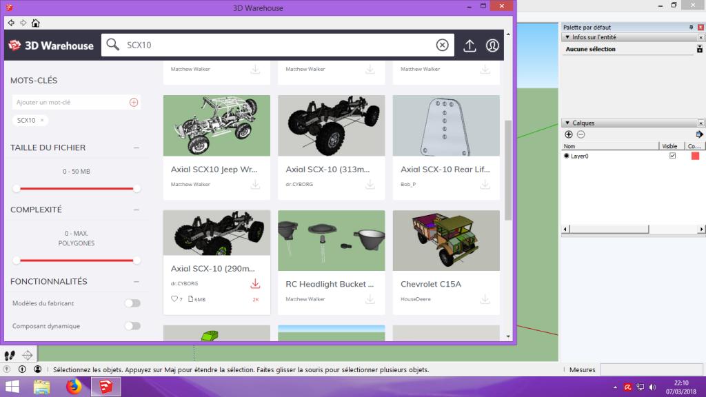 [Tuto] Modelisation 3D - Tuto 2 sur Sketchup - Importation, faire des groupes, modification de pieces. 108