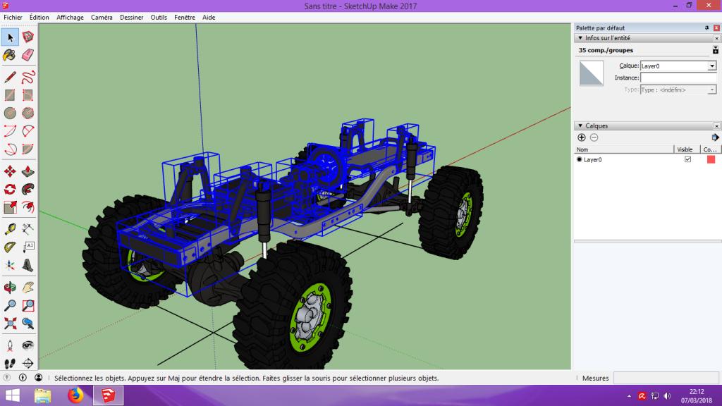 [Tuto] Modelisation 3D - Tuto 2 sur Sketchup - Importation, faire des groupes, modification de pieces. 119