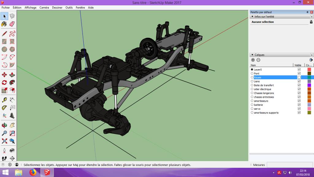 [Tuto] Modelisation 3D - Tuto 2 sur Sketchup - Importation, faire des groupes, modification de pieces. 121