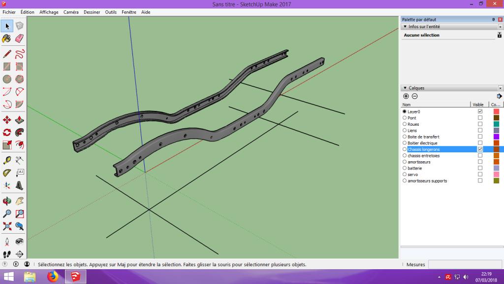 [Tuto] Modelisation 3D - Tuto 2 sur Sketchup - Importation, faire des groupes, modification de pieces. 127
