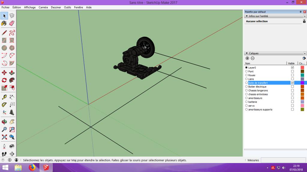 [Tuto] Modelisation 3D - Tuto 2 sur Sketchup - Importation, faire des groupes, modification de pieces. 128