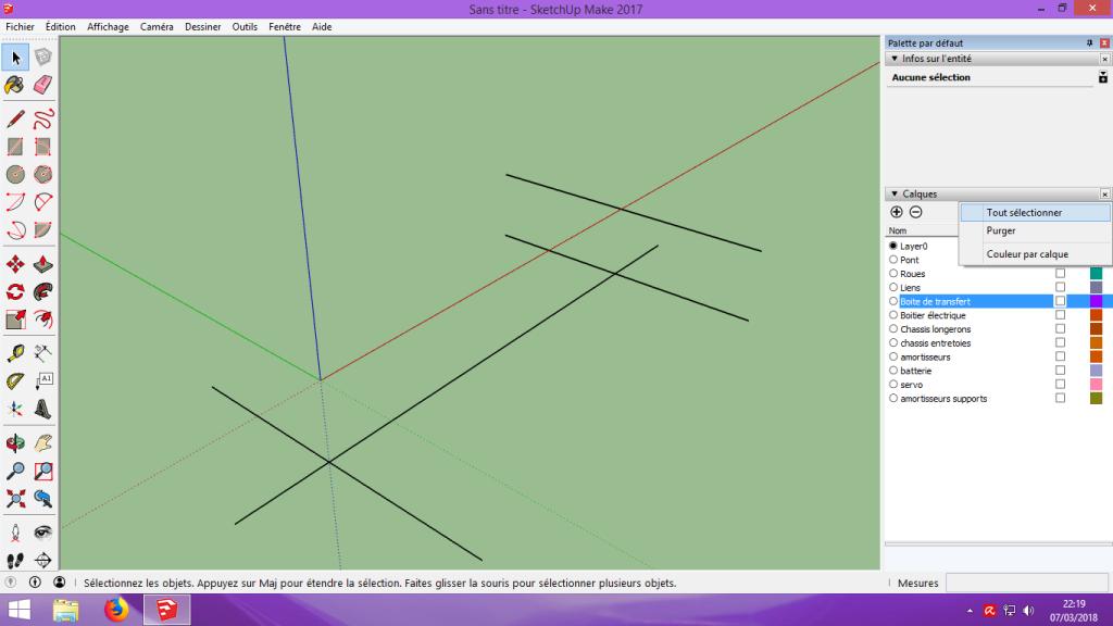 [Tuto] Modelisation 3D - Tuto 2 sur Sketchup - Importation, faire des groupes, modification de pieces. 130