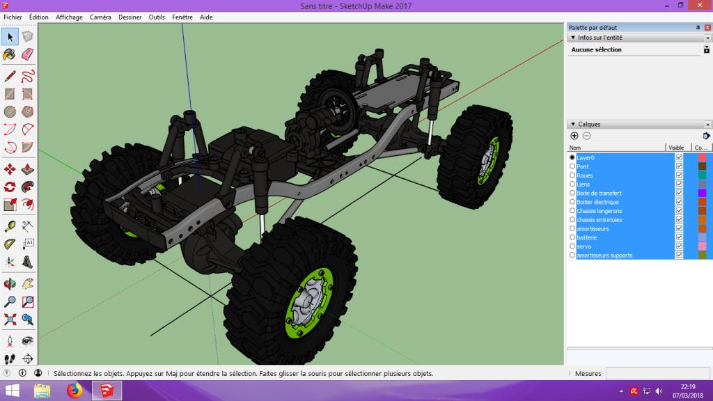 [Tuto] Modelisation 3D - Tuto 2 sur Sketchup - Importation, faire des groupes, modification de pieces. 132