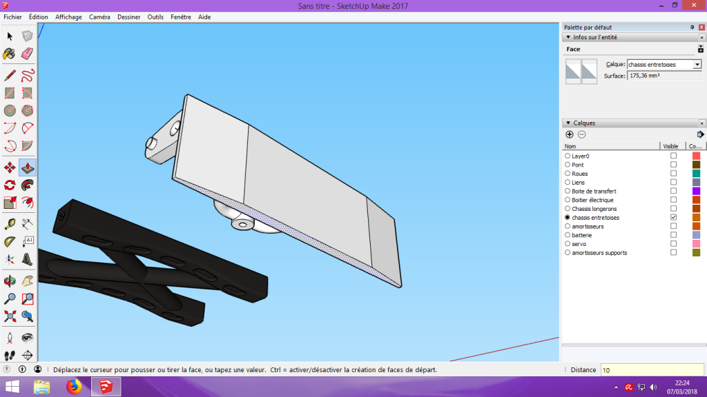 [Tuto] Modelisation 3D - Tuto 2 sur Sketchup - Importation, faire des groupes, modification de pieces. 161