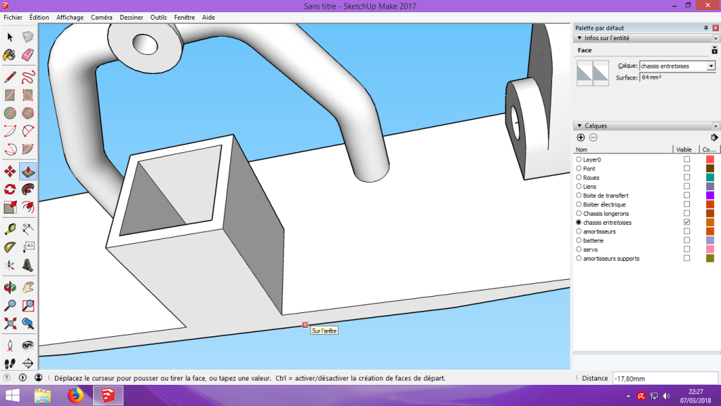 [Tuto] Modelisation 3D - Tuto 2 sur Sketchup - Importation, faire des groupes, modification de pieces. 170