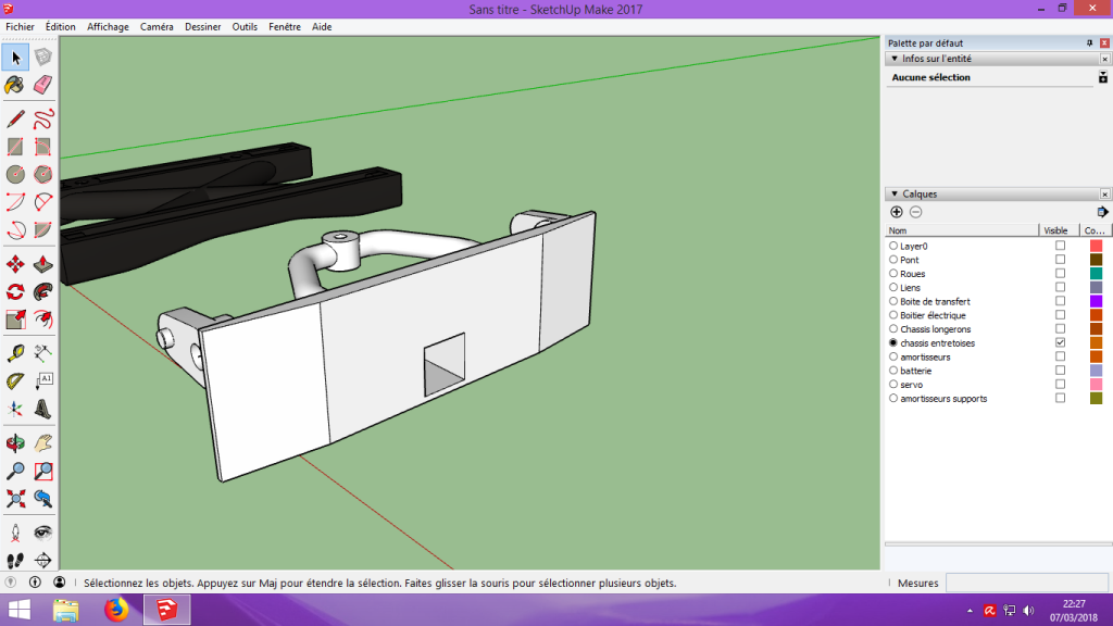 [Tuto] Modelisation 3D - Tuto 2 sur Sketchup - Importation, faire des groupes, modification de pieces. 171
