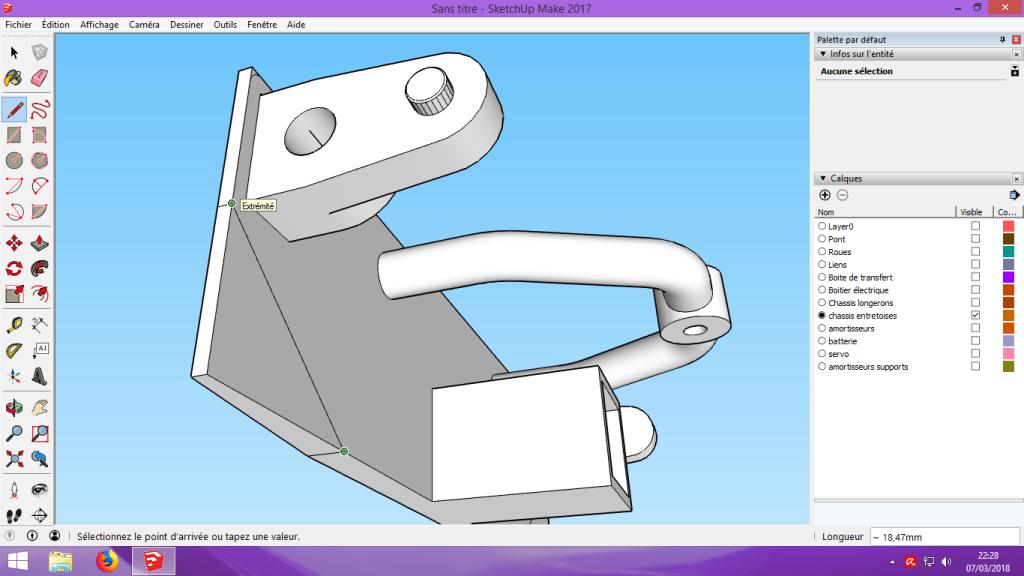 [Tuto] Modelisation 3D - Tuto 2 sur Sketchup - Importation, faire des groupes, modification de pieces. 175