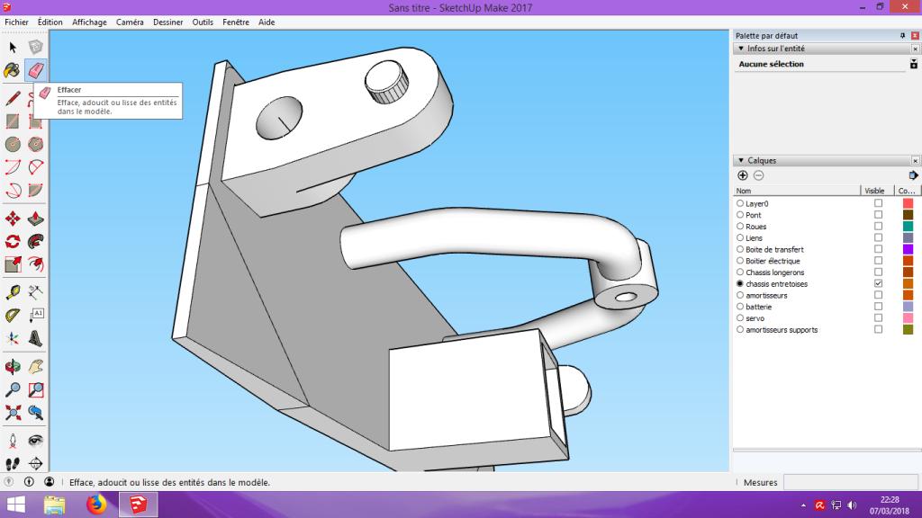 [Tuto] Modelisation 3D - Tuto 2 sur Sketchup - Importation, faire des groupes, modification de pieces. 176