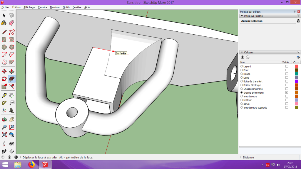 [Tuto] Modelisation 3D - Tuto 2 sur Sketchup - Importation, faire des groupes, modification de pieces. 181