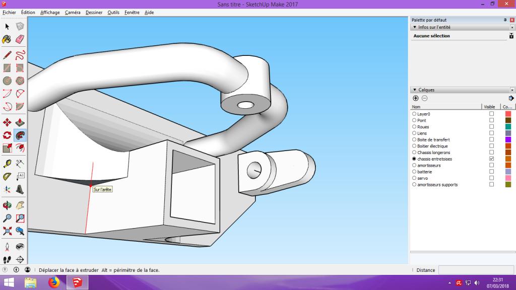 [Tuto] Modelisation 3D - Tuto 2 sur Sketchup - Importation, faire des groupes, modification de pieces. 182