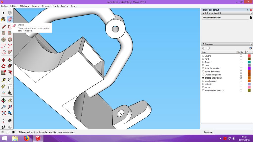 [Tuto] Modelisation 3D - Tuto 2 sur Sketchup - Importation, faire des groupes, modification de pieces. 184