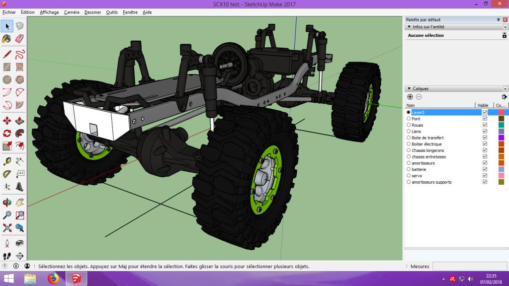 [Tuto] Modelisation 3D - Tuto 2 sur Sketchup - Importation, faire des groupes, modification de pieces. 196