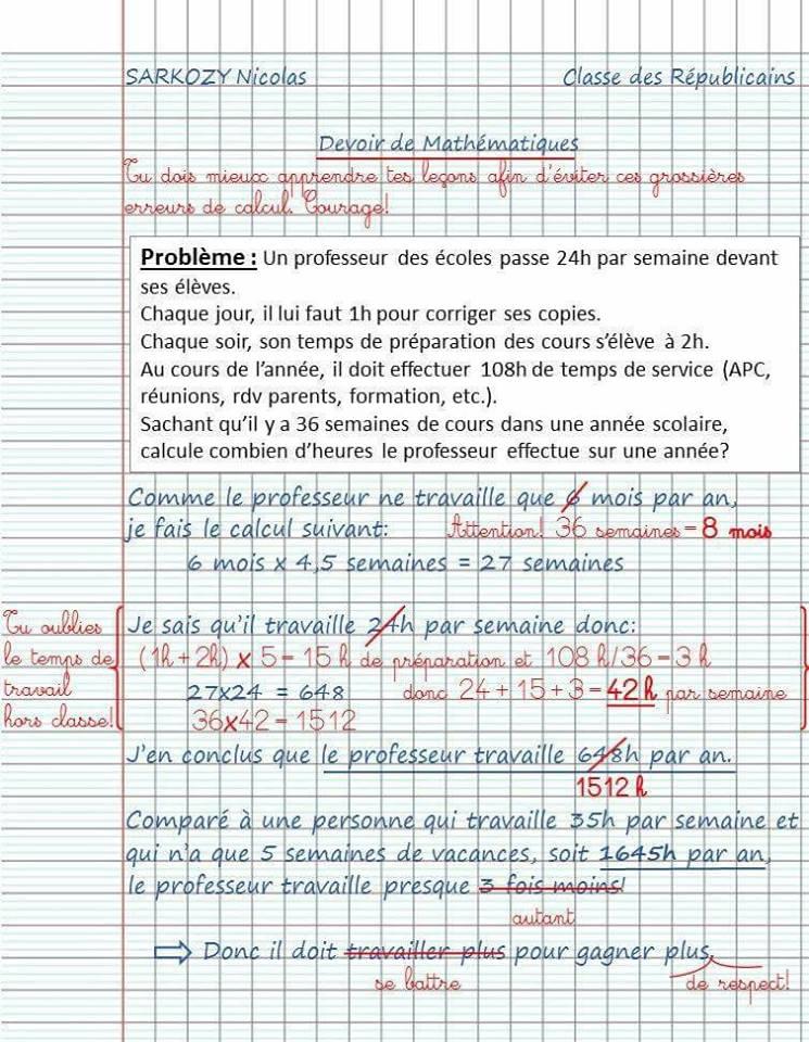 Le prof, cette grosse feignasse aux yeux de Sarkozy - Page 7 SARKOCOPIE