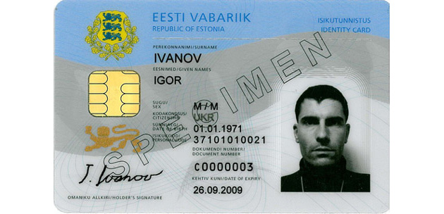 European Country Starts ID Cards for Everyone... Estonia-id-card