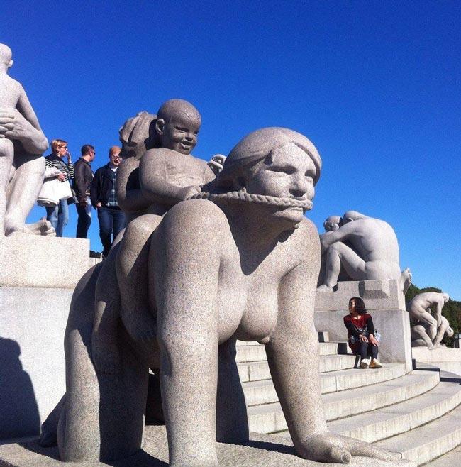 Fuck it- statues Odd-statue-Norway