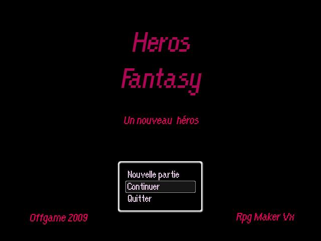 Heros Fantasy : Un nouveau heros HF-Titre