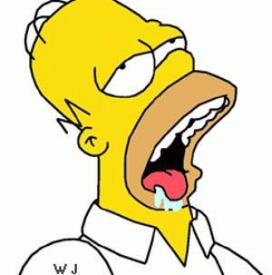 Mulher centenária diz que o segredo de uma vida longa é bacon Homer_simpson31