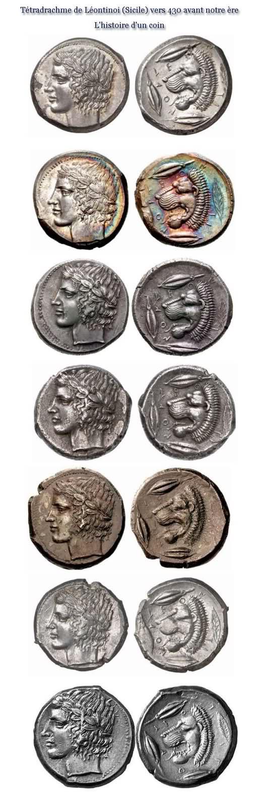 cassure de coin Tétradrachme de Léontinoi 2jaagbc