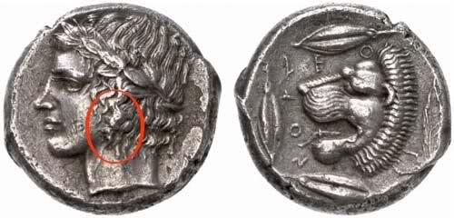 cassure de coin Tétradrachme de Léontinoi 33yj3hx