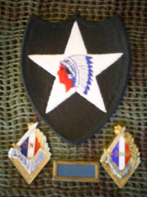"""Insignes de béret,patch de la 2ème DI US,""""Piscine"""" 2u8cqax"""