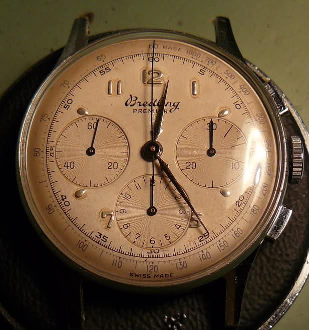 Chronographe Breitling Premier 1946 venus 175 3 compteurs 30a9zjo