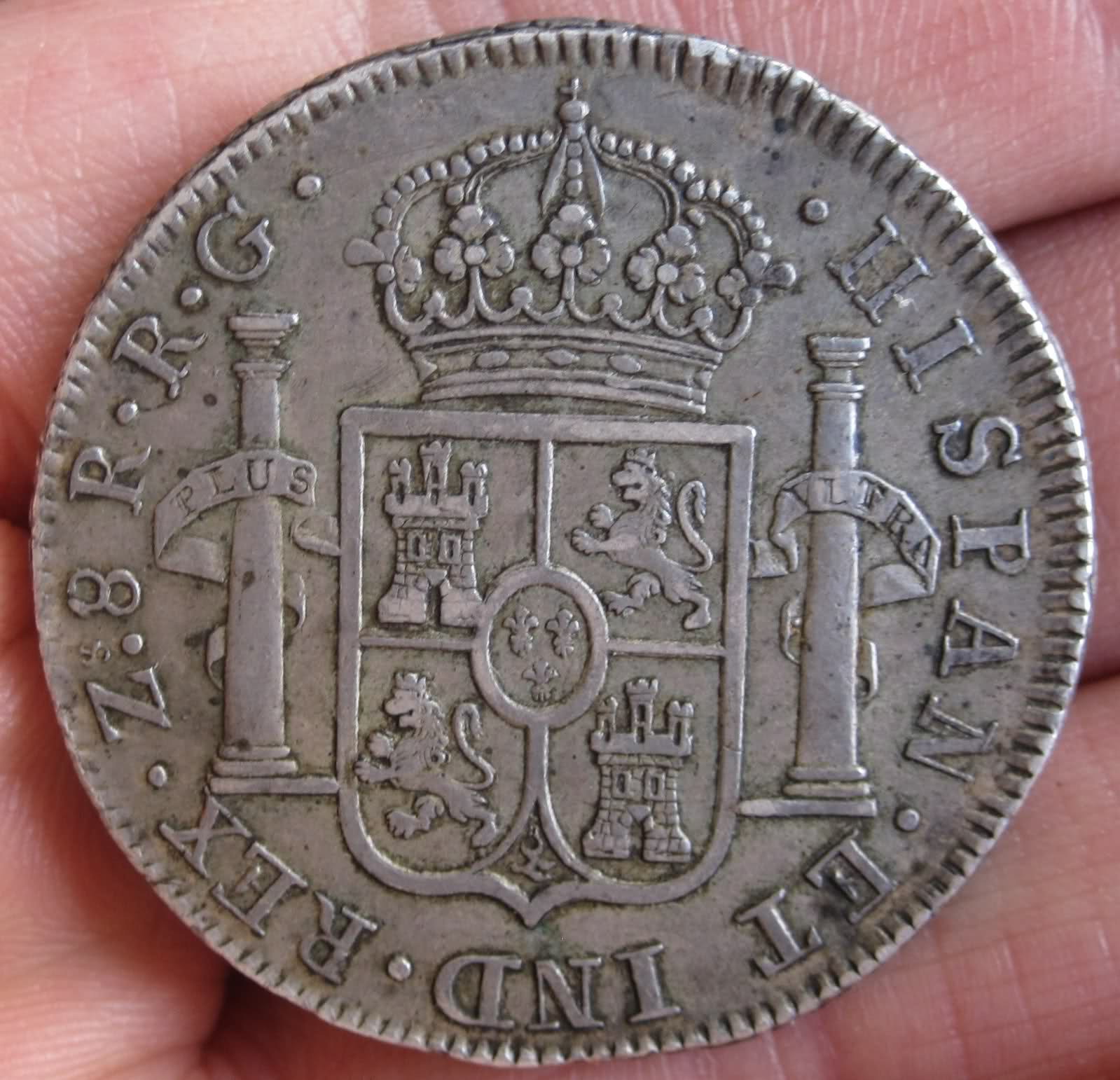 8 Reales Zacatecas 1821 6eqc9c