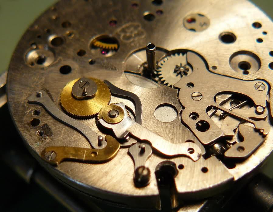 Chronographe Breitling Premier 1946 venus 175 3 compteurs J7924i