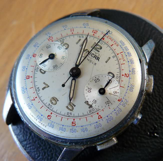 Enicar - Chronographe Enicar R92 Hupqmr