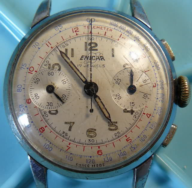 Enicar - Chronographe Enicar R92 2aaanwj