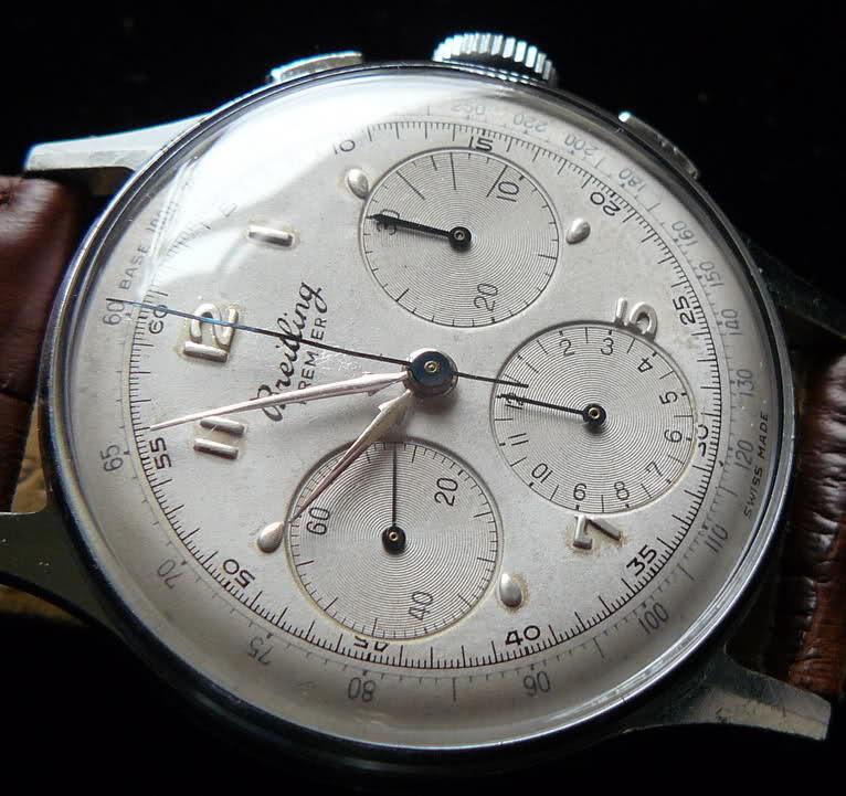 Chronographe Breitling Premier 1946 venus 175 3 compteurs 2vanjet