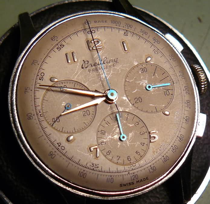 Chronographe Breitling Premier 1946 venus 175 3 compteurs 33nazpy