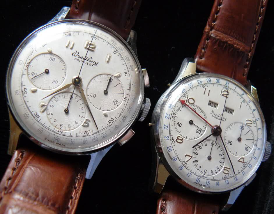 Chronographe Breitling Premier 1946 venus 175 3 compteurs Mblc2p